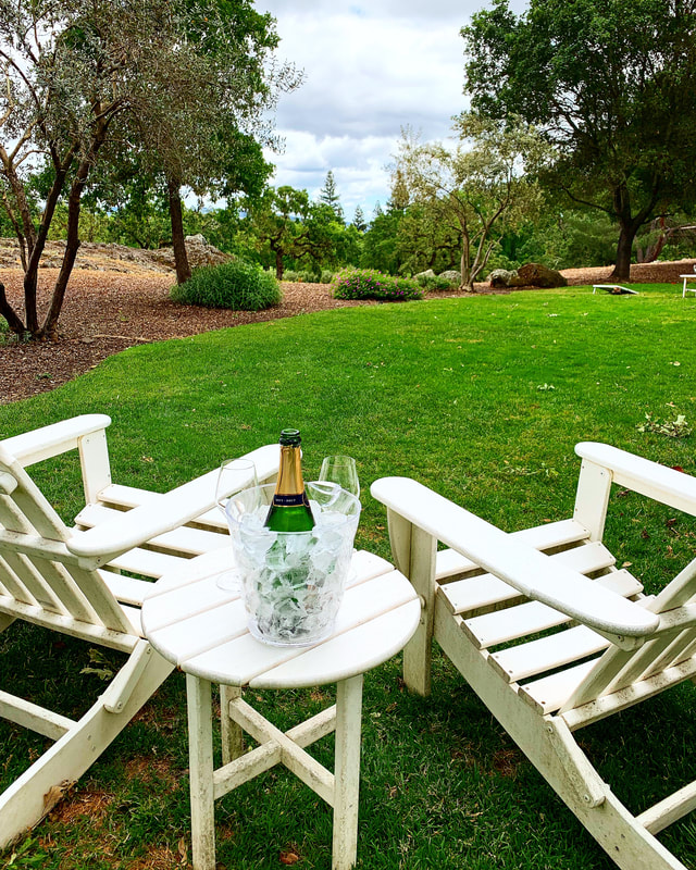 Outdoor seating at Domaine Chandon, Yountville