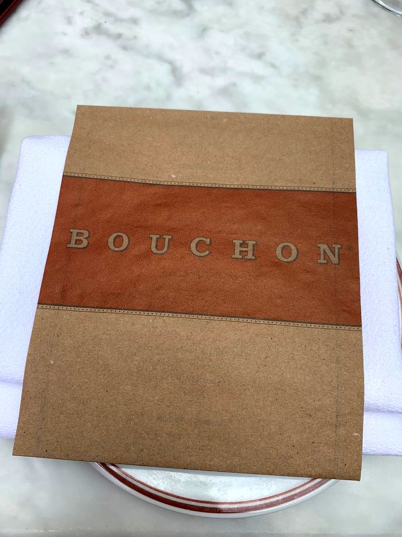 Paper menu at Bouchon, Yountville
