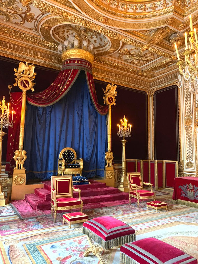 Throne room at the Chateau de Fontainebleau