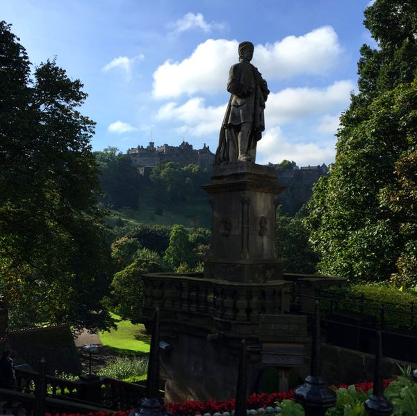 View of Edinburgh Castle from Princes Garden, Edinburgh. 5 Reasons You Will Love Scotland.