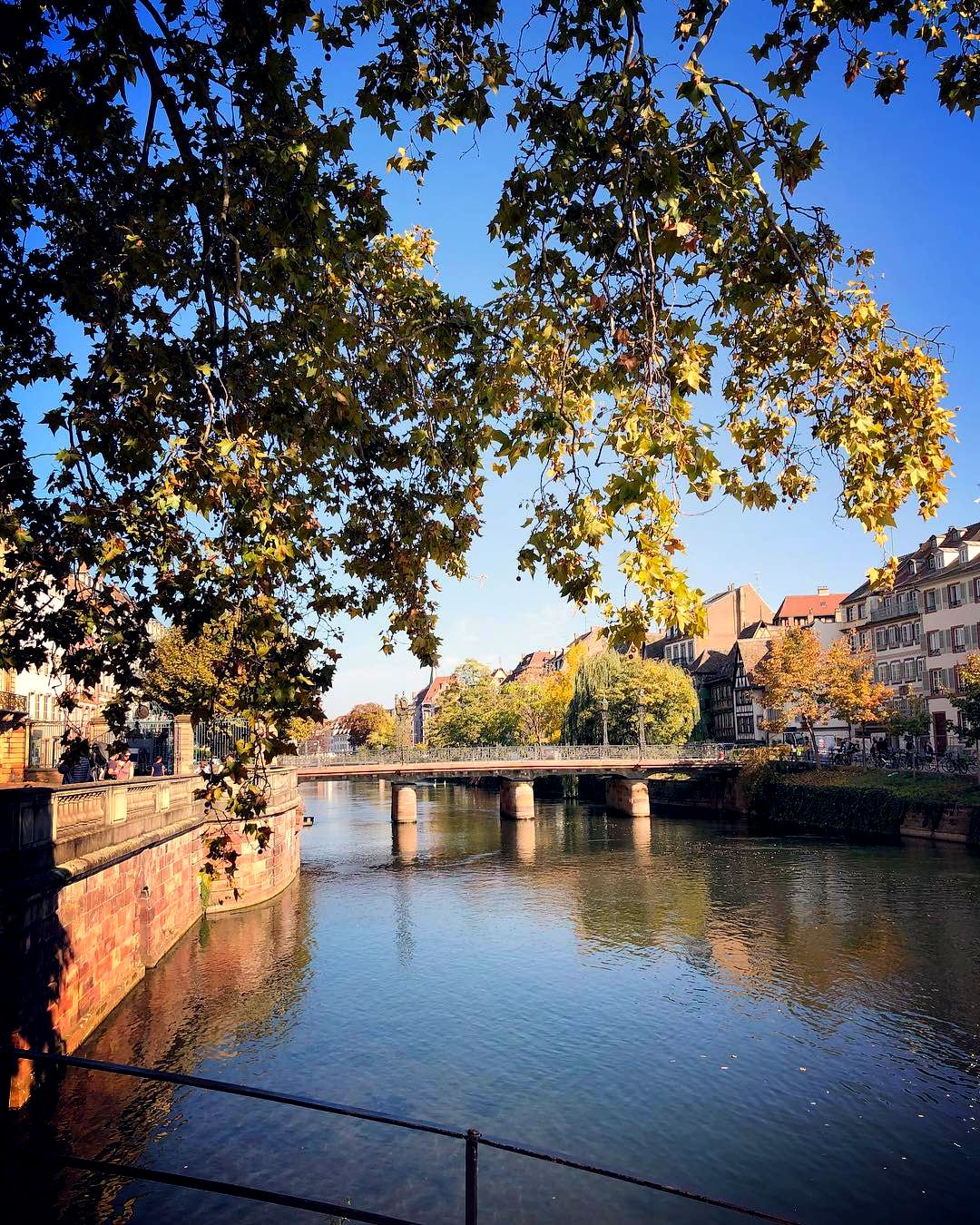 The River Ill, Strasbourg, France. A Day Trip from Paris to Strasbourg.