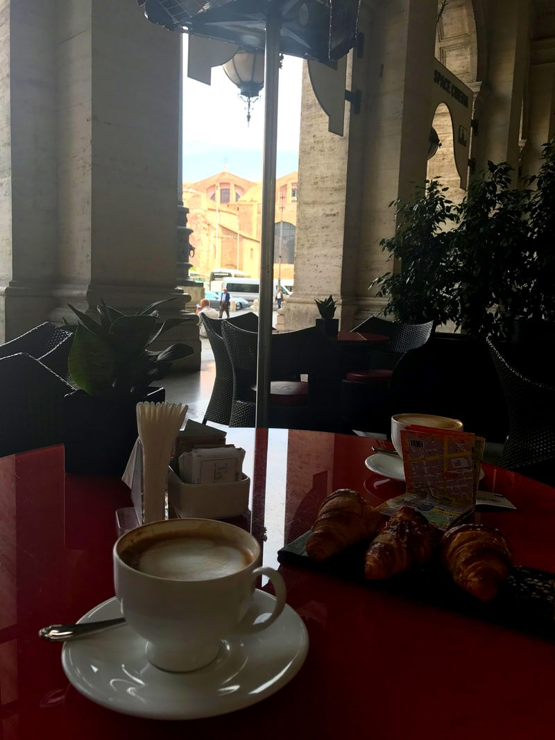 Coffee after visiting the Baths of Diocletian, Rome
