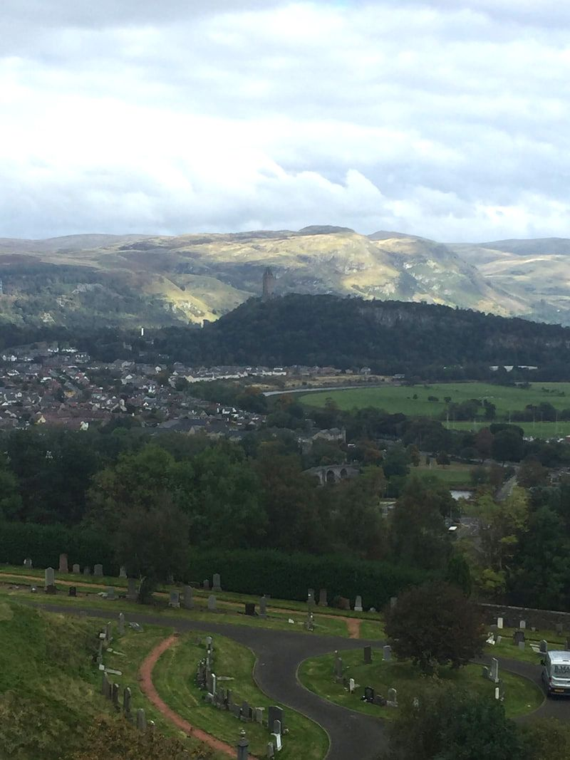 View of the Wallace Monument, from Stirling Castle. A Day Trip to Stirling from Edinburgh.