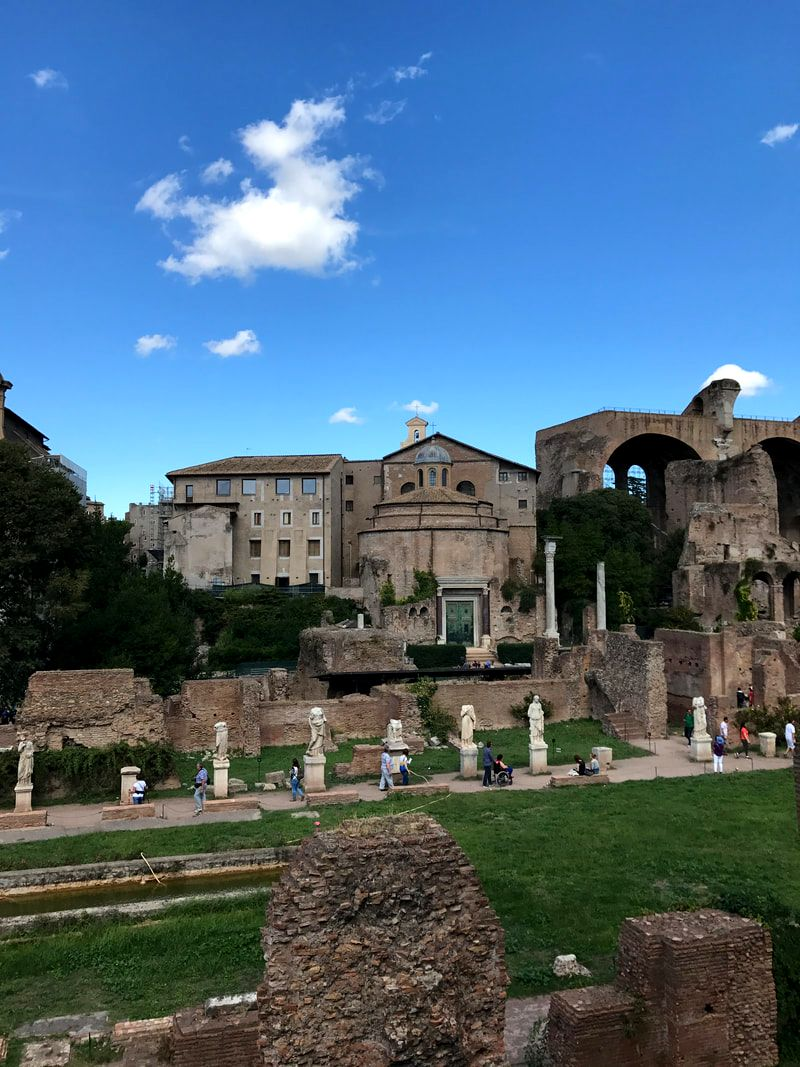 Ruins in the Roman Forum, Rome, Italy