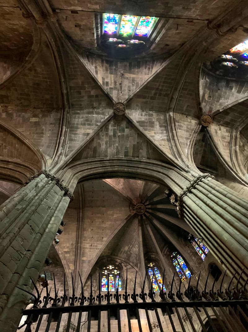 Girona Cathedral vaulting. Girona Day Trip From Barcelona