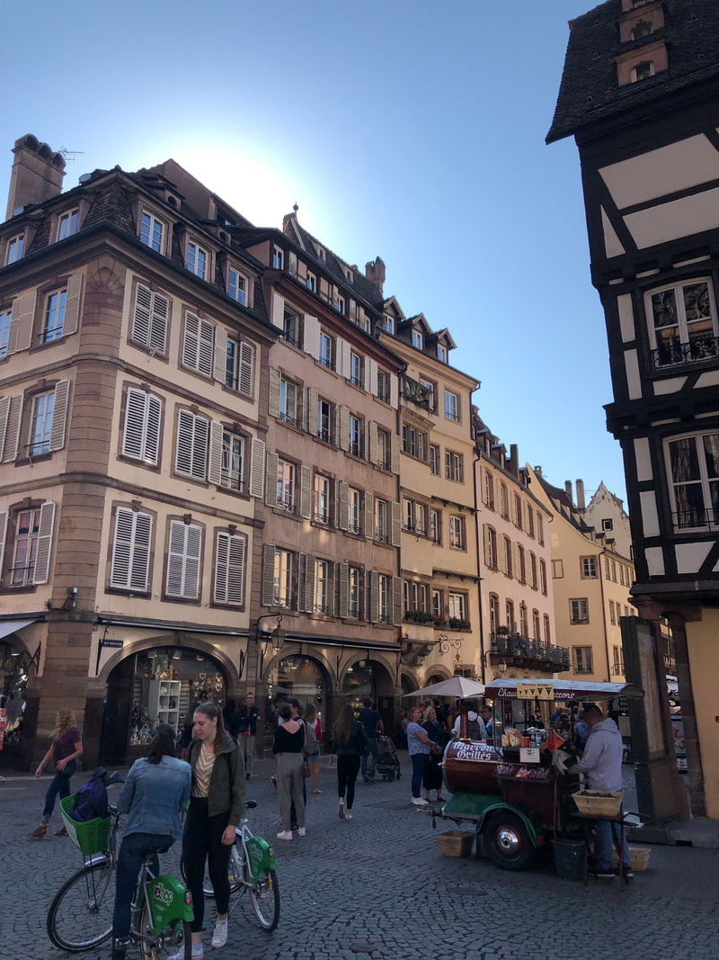 Downtown Strasbourg, France. A Day Trip from Paris to Strasbourg.