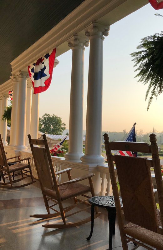 Front porch at French Lick Resort, Indiana. Incredible Hotels to Visit Before You Die.