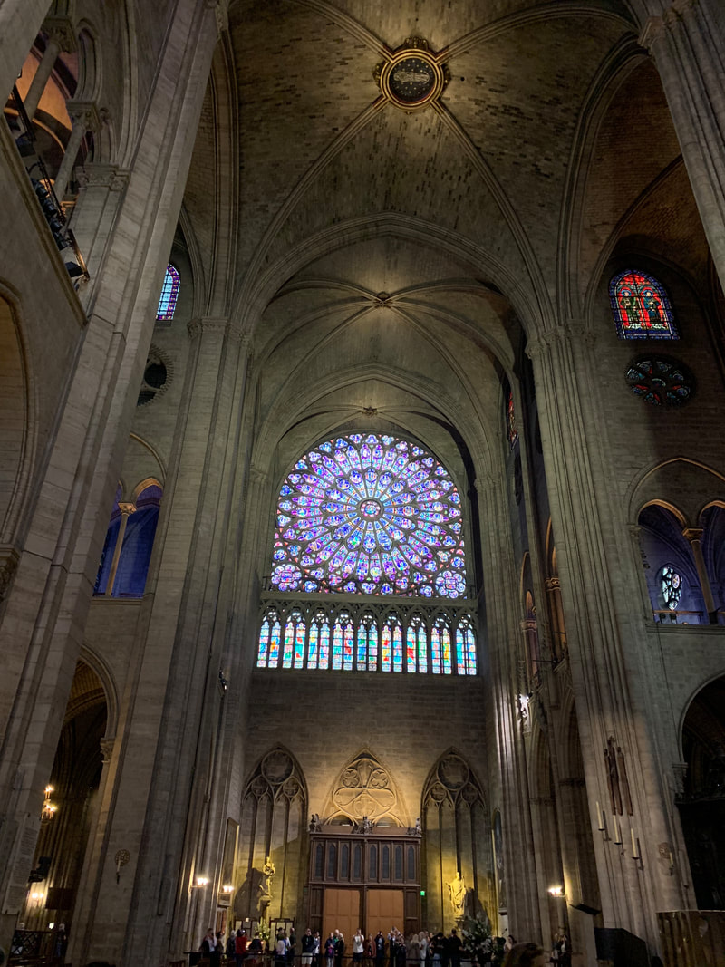 Notre Dame Paris Cathedral before the fire interior