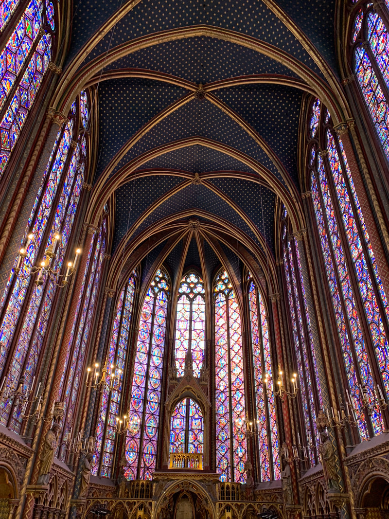Sainte-Chapelle stained glass, Paris France