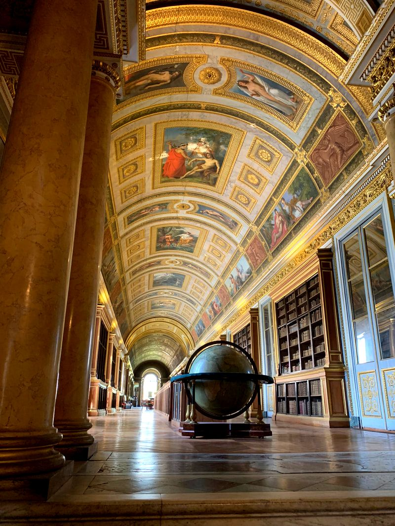 Library at the Chateau de Fontainebleau