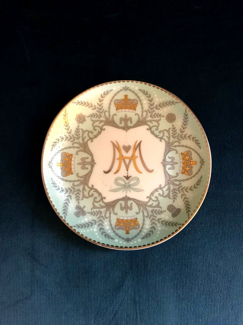 Fortnum & Mason souvenir plate commemorating the wedding of Prince Harry & Meghan Markle