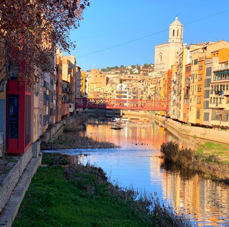 View of historic Girona. Girona Day Trip From Barcelona