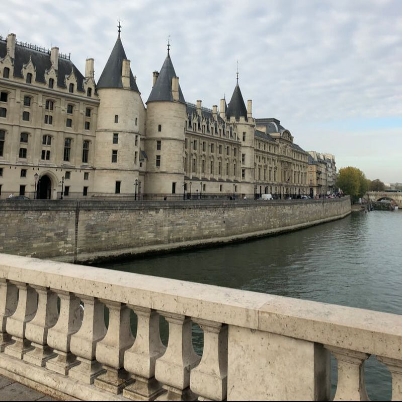 The Conciergerie, on the Seine, which can be seen on a joint ticket with the Sainte-Chapelle, Paris France