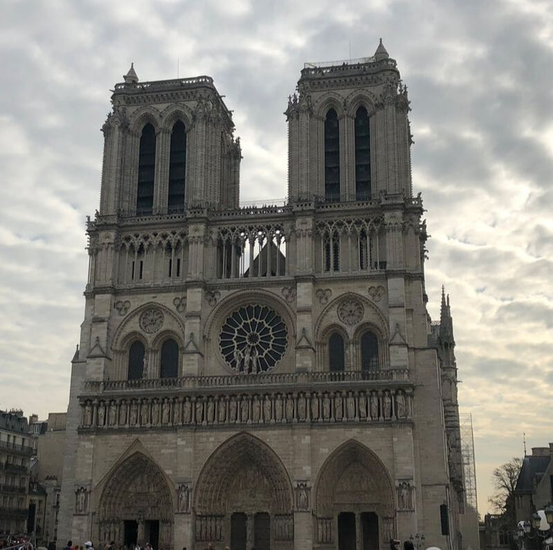 Notre Dame Paris Cathedral before the fire exterior