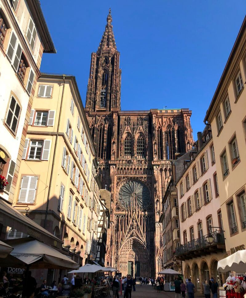 Strasbourg Cathedral. Visiting Strasbourg from Paris for a Day Trip.