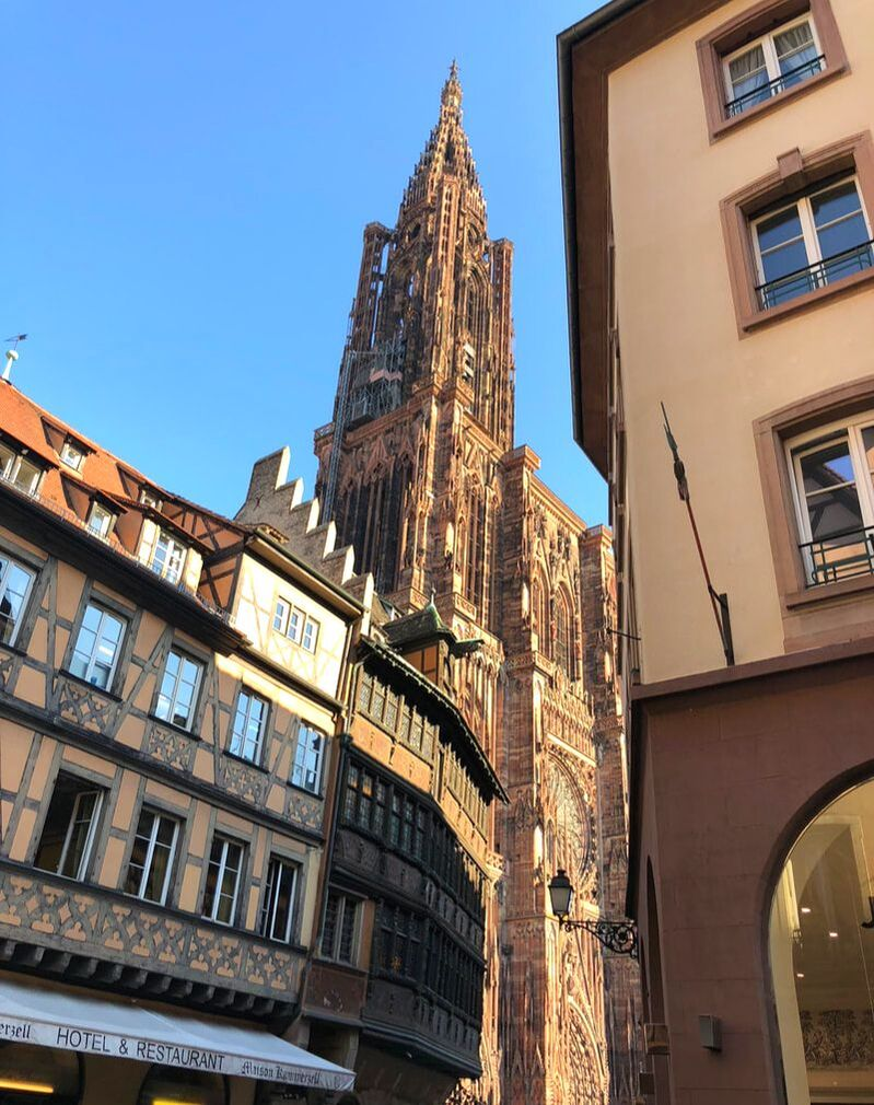 Strasbourg Cathedral, Strasbourg, France. A Day trip from Paris to Strasbourg, France