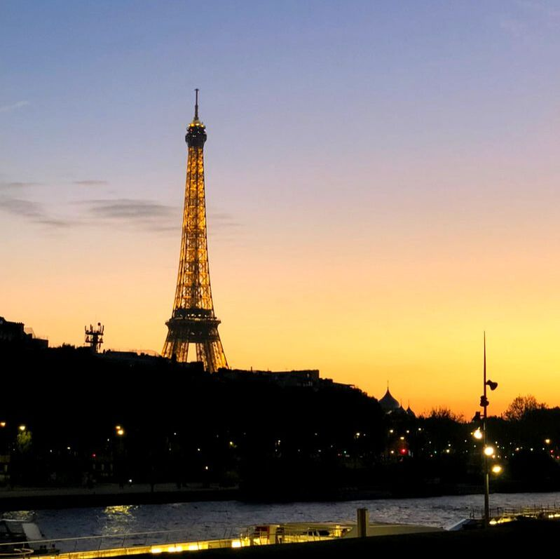 The Eiffel Tower at Dusk. Which European City Should I Visit?
