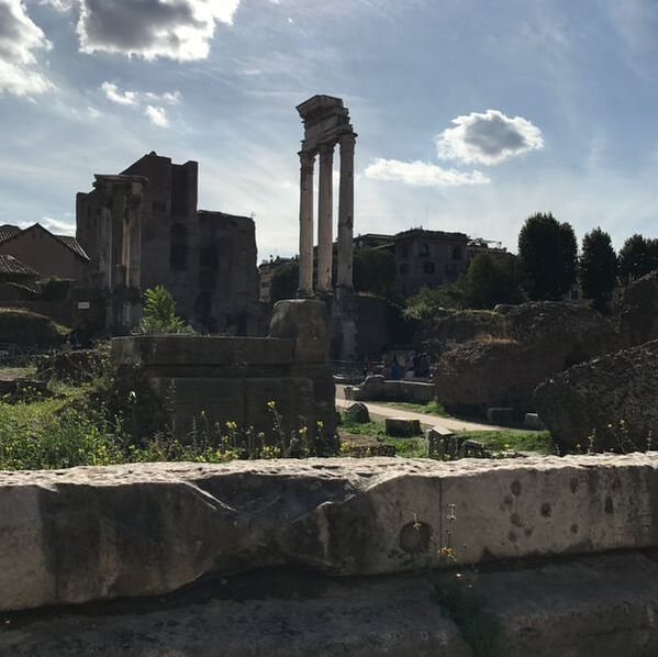 Remains of the Temple of Castor and Pollux, Rome, Italy
