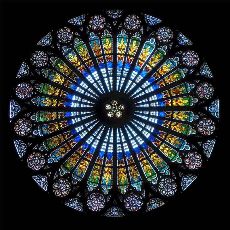 Rose window at Strasbourg Cathedral