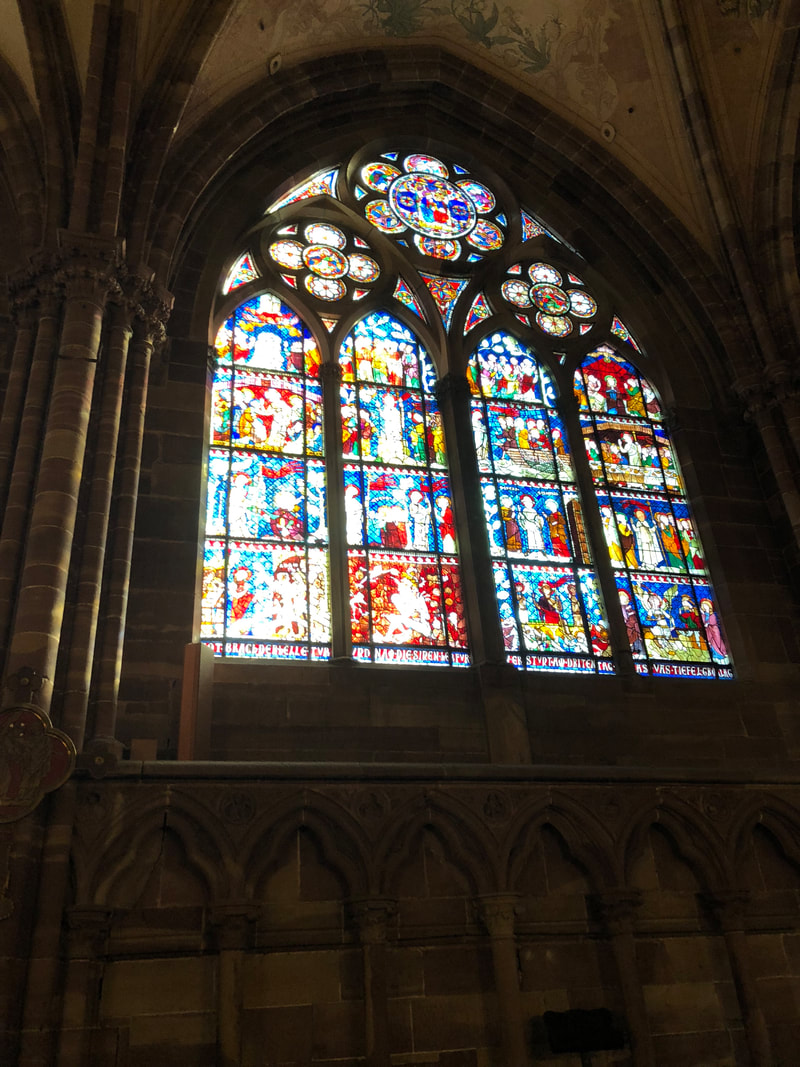 Strasbourg Cathedral stained glass, Strasbourg, France