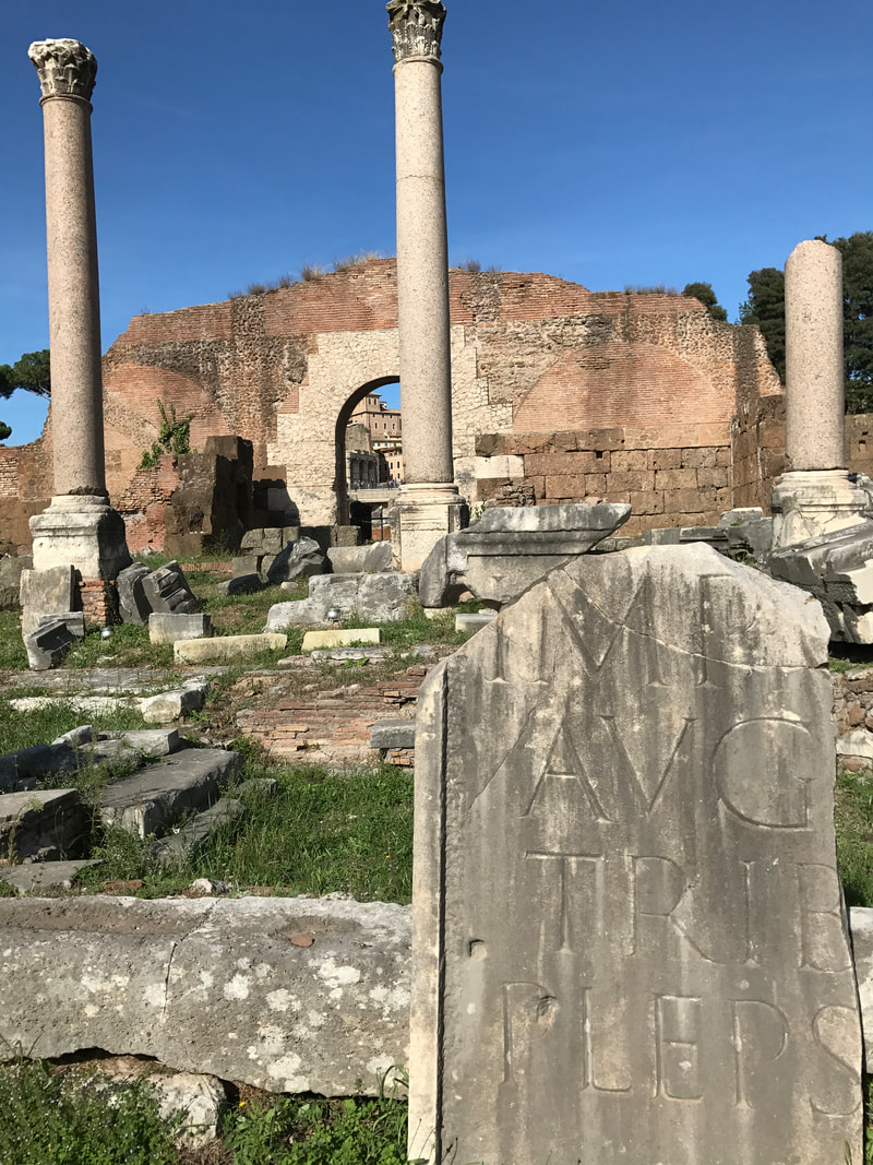 Ruins at The Roman Forum, Rome, Italy