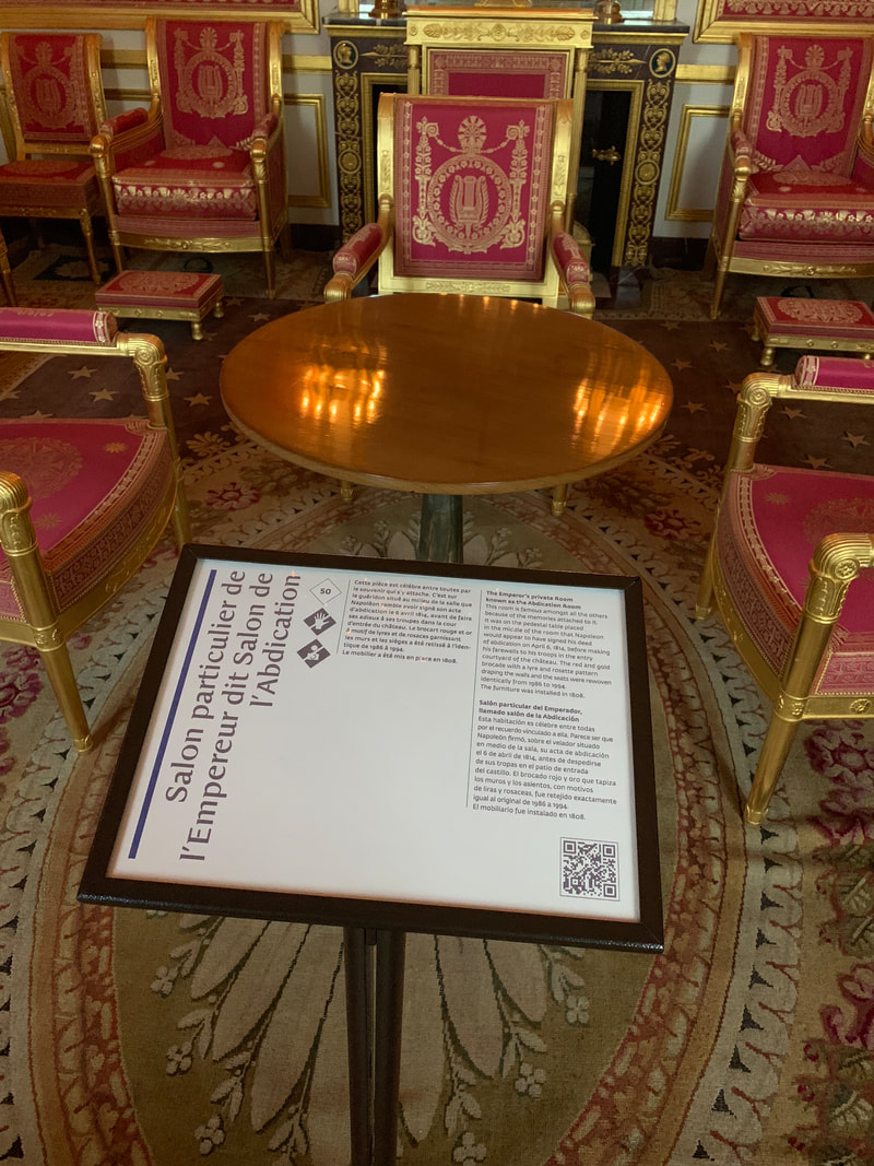 Table on which Napoleon signed abdication papers, Chateau de Fontainebleau, Fontainebleau, France